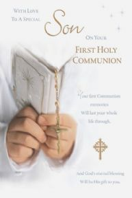 Son First Holy Communion Card